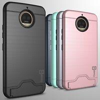 For Motorola Moto G5S Plus Phone Case Card Holder Kickstand Slim Cover