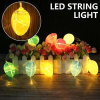 Oeufs Pâques LED String Fairy Lights Lampes fête Noël à piles Decor UK SH