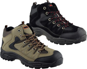 Mens Ankle High Walking Trekking Outdoor Shoes Hiking Boots Trainers Sizes