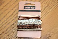 JOB LOT! 10 x Packs de 14 Babyliss Cheveux Bobbles Elastics Browns & crèmes