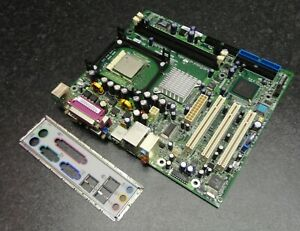 eMachines Imperial_GV 20030812 Socket 478 VGA DDR1 PCI Motherboard and Backplate