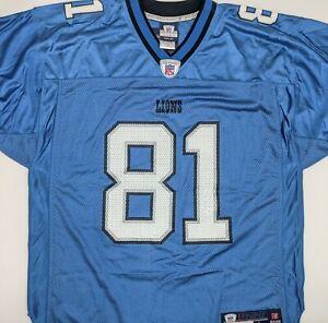 Reebok NFL Equipment Calvin Johnson Detroit Lions Authentic Jersey Size Large
