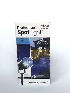Gemmy LED Lightshow Projection Kaleidoscope Icy Blue LED Lights