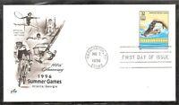 US SC # 3068J Women's Swimming - Olympics 1996 - FDC. Artcraft  Cachet