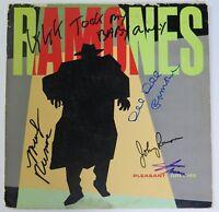 "RAMONES Signed Autograph ""Pleasant Dreams"" Album LP by 4 Joey Johnny Dee Dee"