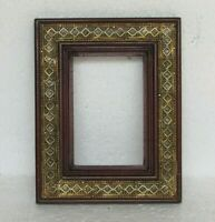 Wooden Handcrafted Brass Fitted Photo Frame Home Decor