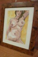 Female nude signed original watercolour,  erotic, gay interest