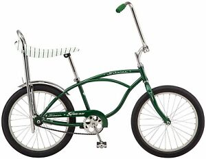 "Schwinn Sting Ray Bicycle Single Speed Retro Banana Seat 20"" Wheels Green"