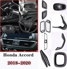 Carbon fiber style interior fittings cover trim 11PCS For 2018-2020 Honda Accord