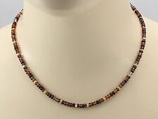 Saphir-Kette - bunte Saphir Rondelle aus Afrika Halskette für Damen 45 cm lang