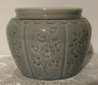 Ceramic Celadon Ginger Jar Pot - Planter - Brush Jar - Catch All