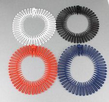 Flex spider hair comb teeth accordion stretch headband Black White Red Navy Blue