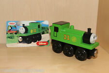 Thomas The Tank Engine Wooden Railway OLIVER With Black Wheels Rare Like NEW
