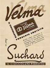 J0026 Cioccolato Velma Suchard - Pubblicità grande formato del 1935 - Old advert