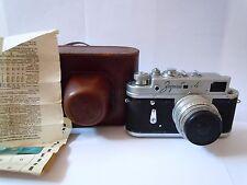 Cámara rara Zorki - 4 Cámara de película de URSS Vintage Con Lente 50mm/3.5 Lente Industar