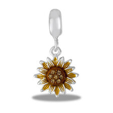 Davinci Beads Charm - SUNFLOWER Dangle - Buy 2 or More DaVinci and Save!