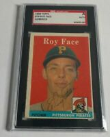 ROY FACE - 1958 TOPPS - #74 - AUTOGRAPH - SGC SLABBED AUTHENTIC