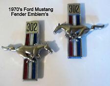 1970's Ford Mustang Fender Script Ornament's Pair L-H & R-H Original O.E.M. USA