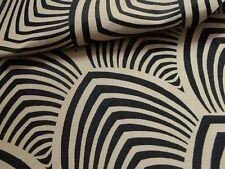 Edo Tissu ameublement jacquard réversible noir/ficelle Thevenon 1677713 le mètre