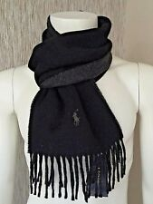 Polo Ralph Lauren Reversible Schwarz & Anthrazit SCARF Made in Italy