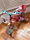 Peppa Pig Girls Pink 12 Inch Children's Bike With Helmet