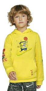 Nike Kyrie x Spongebob Square Pants Boy's Hoodie Youth Size Small CQ3598