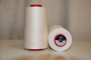 Moon 5000 Yard Cone Sewing Thread Colour: Cream