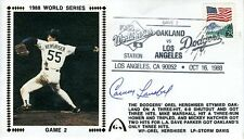 CARNEY LANSFORD 88 WORLD SERIES SIGNED JSA CERT STICKER FDC AUTHENTIC AUTOGRAPH