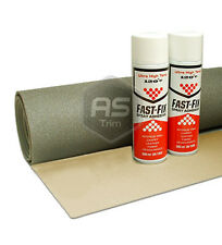 3m x 1.6m ExtraWide Headlining Textured Oatmeal FoamBacked + 2 HiTemp Spray Glue
