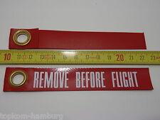 Flugzeug Schlüsselanhänger REMOVE BEFORE FLIGHT - Wetterfest