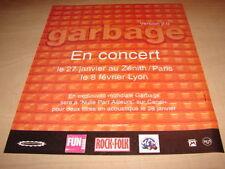 GARBAGE - IN CONCERT!!!!!!!!!!!!!!!! PUBLICITE / ADVERT