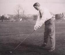 Negative Glass Slide 1920's Handsome Man Playing Golf Course Cape Cod