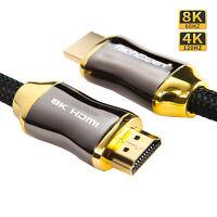 Cable HDMI 2.1 8K 4K 120Hz 2 mètres compatible HDR UHD eARC 48Gb/Sec. TechExpert