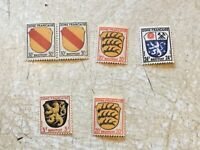 6 Germany Allied Occupation FRANCE 1945 SET MNH Sectors Set Print lot
