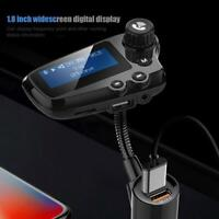 "1.8"" BT 5.0 Car MP3 Player FM Transmitter Radio Handsfree Dual USB Charger Kit"