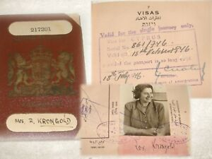 Jewish Judaica British Palestine Israel Passport Cyprus Visa Poland Jerusalem