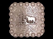 "Western Lodge Cabin Kitchen Decor 1 1/2"" Praying Cowbooy Concho Drawer Pulls (6)"