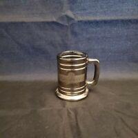 "VINTAGE! 2000 2.5"" BUDWEISER Glass Mug Silver Look Shot Glass FREE SHIPPING!"