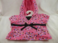 Build A Dino Pink Stars Hoodie black bow