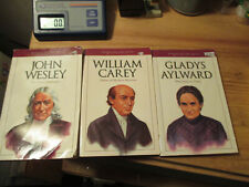 3 books JOHN WESLEY Gladys Aylward WILLIAM CAREY missionary bioggraphies