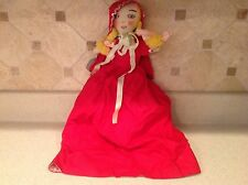 Vintage Topsy Turvey Little Red Riding Hood Grandma Big Bad Wolf Rag Doll Nice