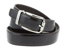 Cintura uomo in pelle spazzolato marrone scuro 110cm (taglia pantalone 44/46 EU)