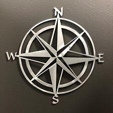 Compass Rose Metal Wall Art Skilwerx 12 x 12 Nautical