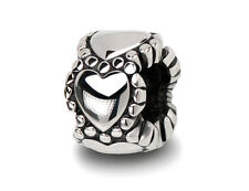 Stainless Steel Heart Beads / Endless Love Charms For European Charm Bracelets