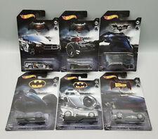 6 x Hot Wheels - Batman - Komplette Serie - Batmobile - DC - NEU & OVP 2019 !
