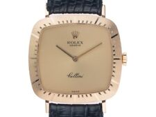 Rolex Cellini 18kt Gelbgold Handaufzug Armband Leder 30x29mm Ref.4084 Vintage