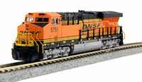 "KATO 1768925 N Scale GE ES44AC BNSF 5785 ""Swoosh"" Locomotive 176-8925  - NEW"