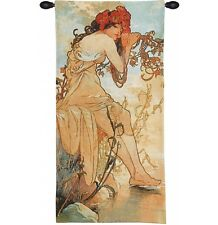 FOUR SEASONS Alhonse Mucha Wall Tapestry Painting The Summer in pastel colors