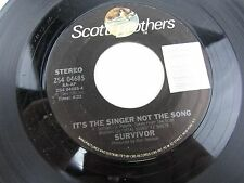 """SURVIVOR High On You / It's The Singer Not The Song   7"""" Record 45 ZS4-04685"""