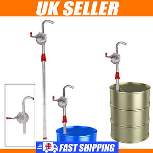 50'' Self Priming Rotary Hand Oil Pump Fuel Fish Barrel Drum Syphon Transfer UK